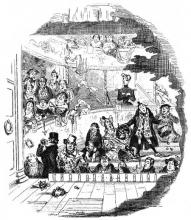 """From Charles Dickens' """"Nicholas Nickleby (1839): The Audience of the Crummles Theatre Company"""