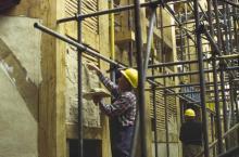 Plastering the Laths Between Beams