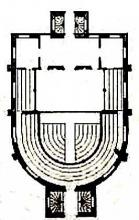 Plan of the Cockpit Theatre: Designed by Inigo Jones