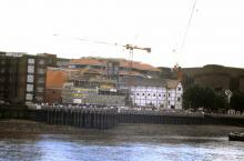 The Incomplete Globe Site from the River