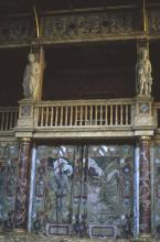 Curtained Central Entrance to Stage
