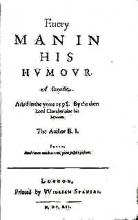 """Every Man in his Humour"" Title Page"