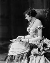The American Actress Katherine Cornell (1893-1974) as Countess Ellen Olenska in Edith Wharton's The Age of Innocence