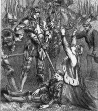 Henry VI, Part 3: The Murder of the Prince of Wales in Front of his Mother Queen Margaret by the Yorkist Brothers