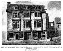 The Falcon Inn near the Globe Theatre (1805)