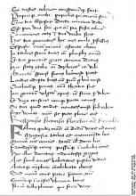 Handwriting of Francesco Petrarch