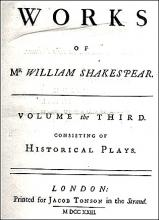 Alexander Pope's Titlepage for His Edition of Shakespeare's Works