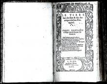 Titlepage of a 1571 Edition, A Later Part of Gargantua and Pantagruel of Rabelais