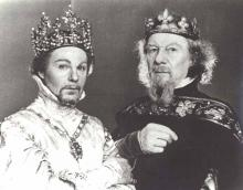Richard II: Derek Jacobi as Richard II, John Gielgud as John of Gaunt