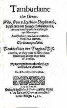 """Tamburlaine"" Title Page (1590)"