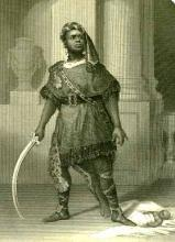 Titus Andronicus: Ira Aldridge (1807-67) as Aaron the Moor