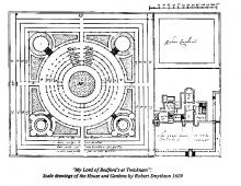 The Countess of Bedford's Twickenham Park - Plan of Garden and House