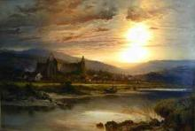 Tintern Abbey and the River Wye by Benjamin Williams Leader (1831-1923)