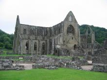 Tintern Abbey in the Wye Valley, Wales
