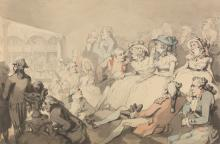 An Audience Watching a Play at the Drury Lane Theatre