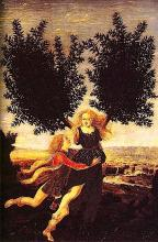 Apollo and Daphne by Antonio Pollaiuolo (1429? - 1498)