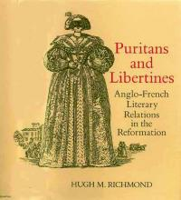 """Cover of """"Puritans and Libertines"""" by Hugh Richmond: Renaissance Engraving of a Masked Lady of the French Court"""