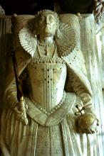 Effigy of Queen Elizabeth I in Westminster Abbey