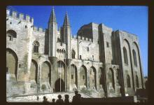 Facade of the Papal Palace at Avignon