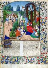 Fortune's Wheel illustrating Boccaccio's De Casibus Virorum Illustrium (On the Fall of Great Men)