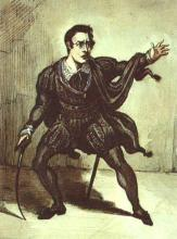 Hamlet, American Actor John Howard Payne as Hamlet