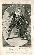 Hamlet, John Phillip Kemble as Hamlet, Drury Lane Theatre, 1785
