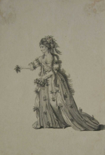 Hamlet, Mrs. Jane Lessingham as Ophelia, Covent Garden Theatre, 1772