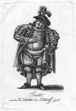 Henry IV, Friedrich Ludwig Schröder as Falstaff