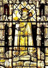King Edgar: Reigned, 1 October 959 - 8 July 975 (from All Souls College Chapel).