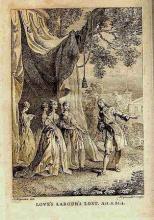 Love's Labour's Lost, possibly at Drury Lane Theatre, Circa 1744