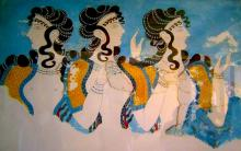 Minoan Ladies In Blue
