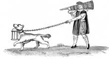 "Much Ado About Nothing, III.iii., Dogberry? - ""The Constable of the Watch with his Dog,"" 1600"