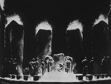 Norman BEL GEDDES, American Expressionist: Theatrical performance of 'King Lear', 1919.