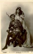 Othello: Margaret Halstan (1879-1967) as Desdemona and  Matheson Lang (1879-1948) as Othello