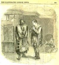 Othello: Mr. Wallace as Othello and Mr. Macready as Iago