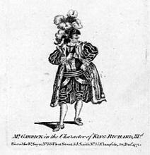 Richard III: Garrick as Richard III, London, Drury Lane Theatre, 1769