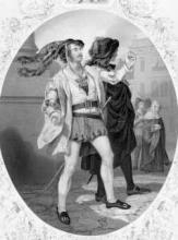 Romeo and Juliet: James William Wallack (1818-1873) as Mercutio, 1859.