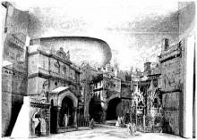 Romeo and Juliet, Sketch for the Set in Act III, 1867