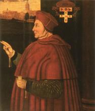 Sampson Strong's portrait of Cardinal Wolsey at Christ Church (1526)