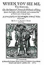 Samuel Rowley's 'Henry VIII'