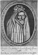 John Donne in his shroud