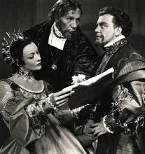 Stratford Festival, Ontario, Hamlet, 1957.