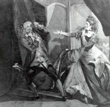 The Macbeths: David Garrick and Hannah Pritchard by Henry Fuseli (1741-1825)