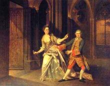 The Macbeths: David Garrick and Hannah Pritchard by Johann Zoffany (1733-1810)