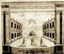 The Stage of the Theatre Royal Drury Lane (1674)