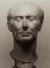 "The ""Tusculum portrait"", a rare bust of Julius Caesar in his lifetime."