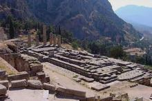 The Winter's Tale, Act 1: Delphi: the Temple of Apollo, site of the Oracle which Leontes consults.