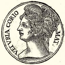 Veturia: the Mother of Coriolanus in Plutarch's Lives.