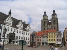Wittenberg, with Luther's Statue: Hamlet.